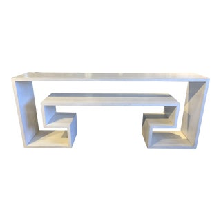 Modern White Key Console For Sale