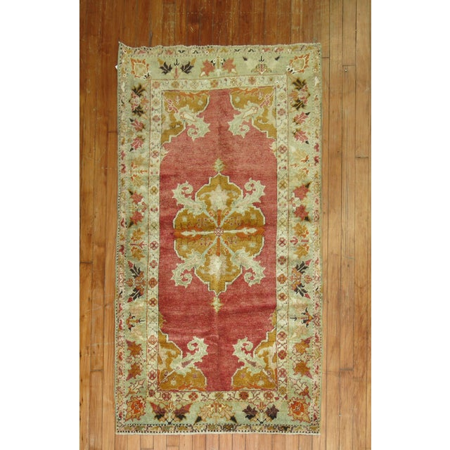 Antique Turkish Melas Rug, 3' x 5'1'' For Sale In New York - Image 6 of 6