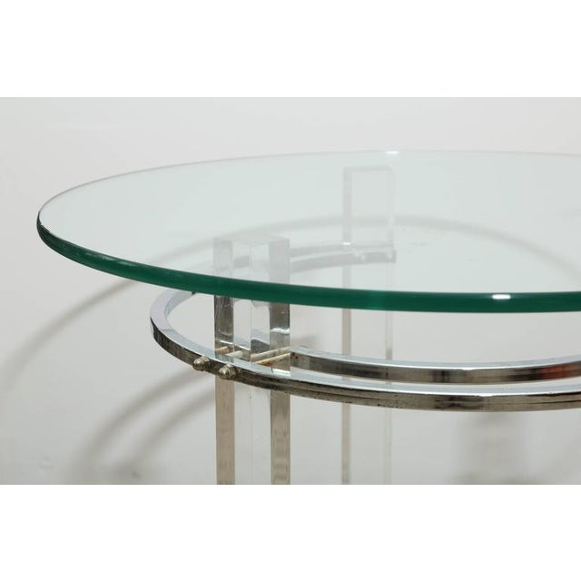 Pair of Round Chrome and Glass Charles Hollis Jones End Tables, USA, 1970s For Sale In Miami - Image 6 of 6