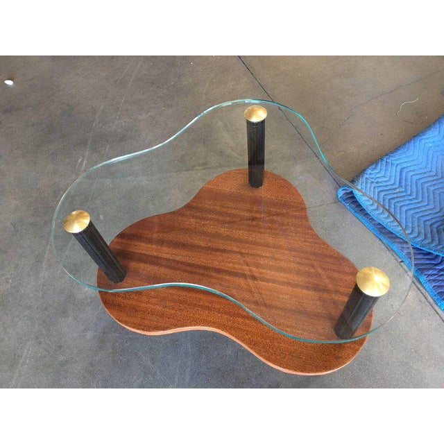 1950s Gilbert Rohde Two-Tier Mid-Century Cloud Coffee Table For Sale - Image 5 of 10