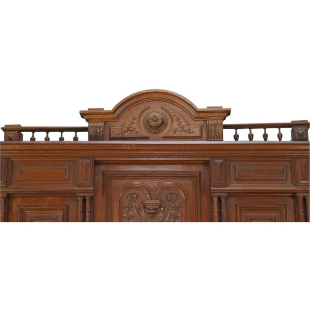 Antique French Renaissance Carved Buffet Server For Sale - Image 4 of 8