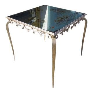1930s Rene Drouet Style Églomisé Mirrored Game Table For Sale
