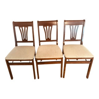 Vintage Stakmore Folded Chairs - Set of 3 For Sale