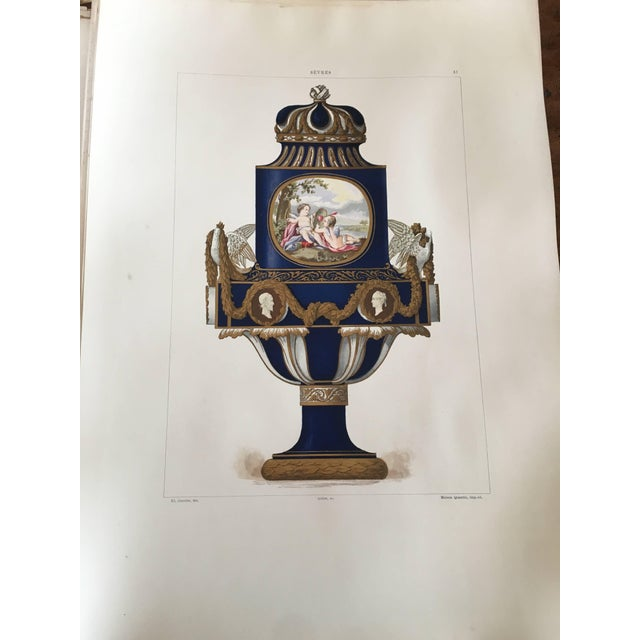 Traditional Porcelaine Tendre De Sevres, 36 Hand Colored and Gilded Plates, 1891-Folio For Sale - Image 3 of 8