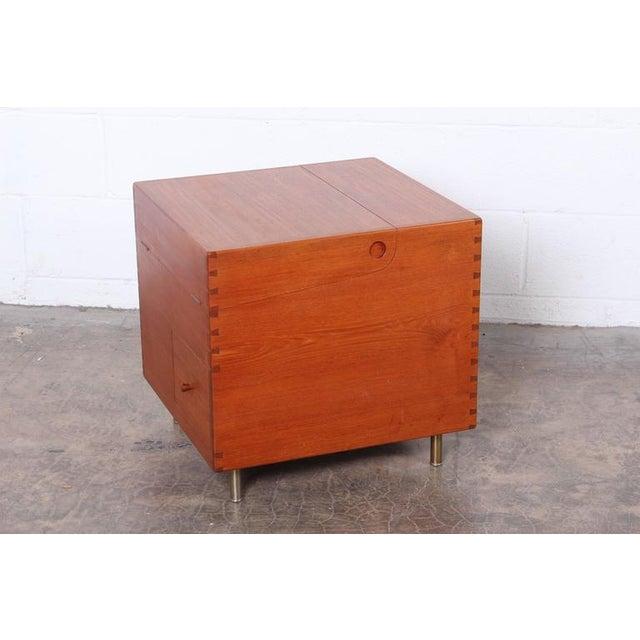 Hans Wegner Teak Cube Bar For Sale In Dallas - Image 6 of 10