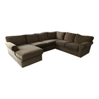 Ethan Allen Retreat Roll Arm Sectional With Chaise For Sale