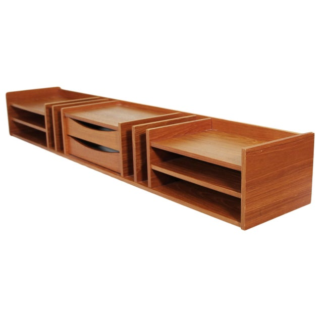 Mid-Century Modern Pedersen & Hansen Danish Teak Desktop Organizer For Sale - Image 3 of 7