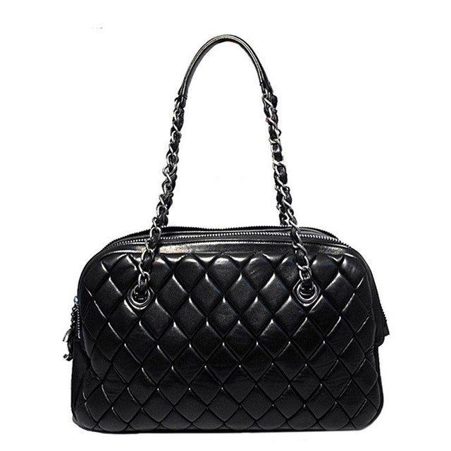 32c922dcc7 Chanel Black Quilted Medium Shopper Tote Shoulder Bag For Sale - Image 9 of  9