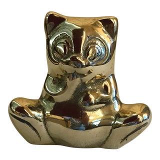 Vintage Sitting Brass Bear
