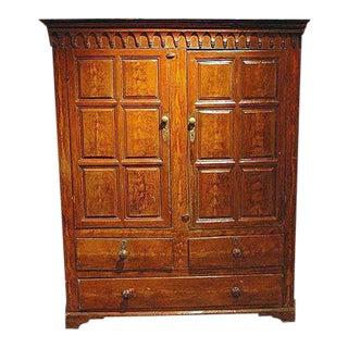Irish Grain Painted Cupboard With Fielded Panel Doors For Sale