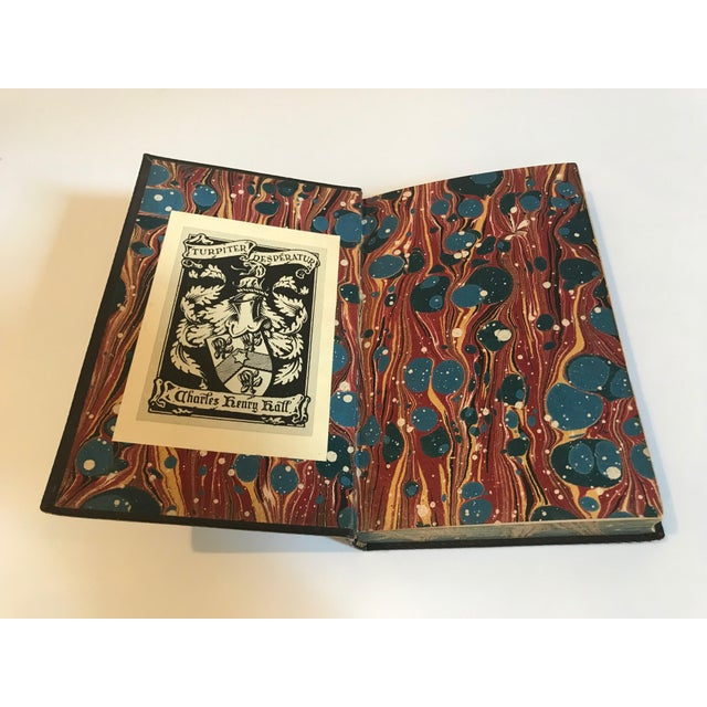Antique All Leather Volumes of Darblay's Diary Books - Set of 7 For Sale In Nashville - Image 6 of 9