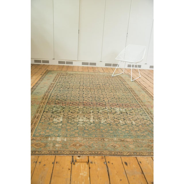 "Old New House Vintage Distressed Malayer Carpet - 7' X 10'2"" For Sale - Image 4 of 13"