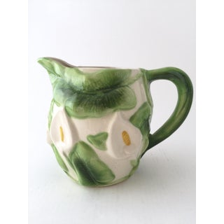 Vintage Calla Lilies Ceramic Pitcher and Mugs - Set of 5 Preview