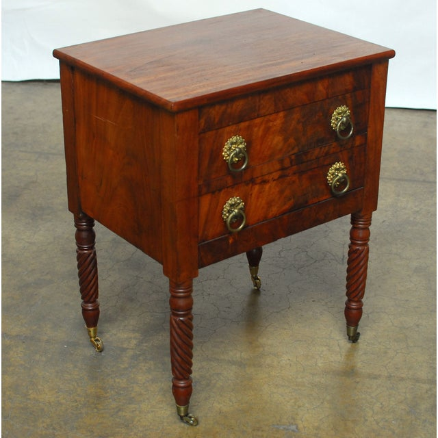 19th Century Federal Mahogany Work Table - Image 7 of 9