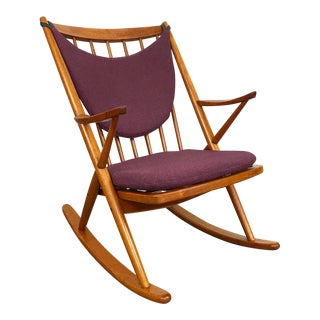 Danish Rocking Chair Designed by Frank Reenskaug for Bramin For Sale
