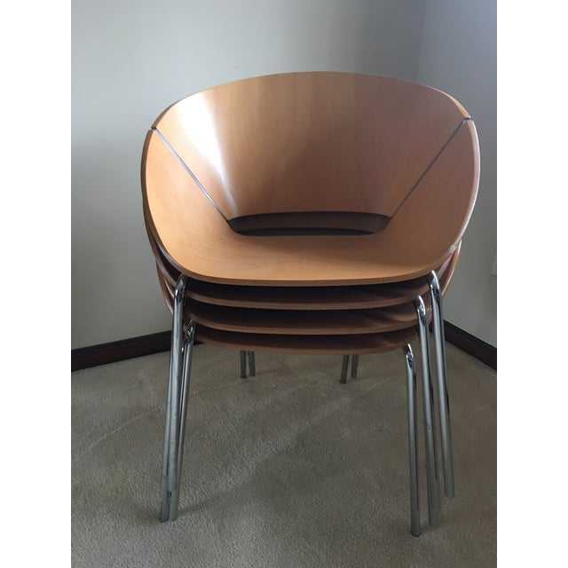 2000 - 2009 Wolfgang C.R. Mezger Lipse Chairs - A Pair For Sale - Image 5 of 10