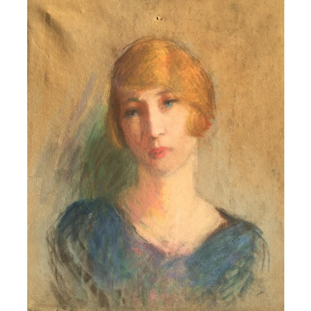 Vintage French Oil Painting Portrait - Image 1 of 10