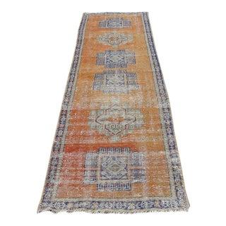 "Hand Wowen Wool Turkish Rug, Rug,Vintage Rug,Beatifull Color Combination TurkishRug, Home Decor 2'9"" X 10'5"", Ft For Sale"