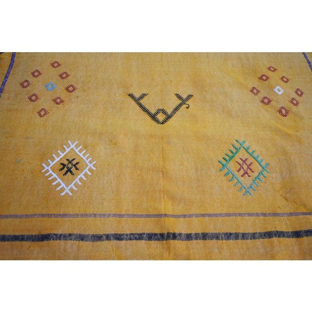 Moroccan Cactus Silk Rug - 3′4″ × 4′11″ - Image 2 of 3