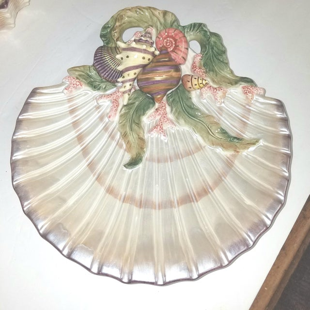 Fitz and Floyd Vintage Fitz and Floyd Oceana Scallop Shell Trinket Dish For Sale - Image 4 of 4