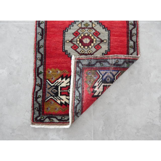 Textile Small Turkish Accent Rug For Sale - Image 7 of 8