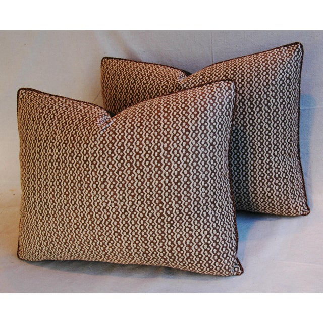 Italian Mariano Fortuny Tapa Feather & Down Pillows - A Pair - Image 7 of 10