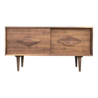 Mid Century Custom Credenza- Walnut For Sale