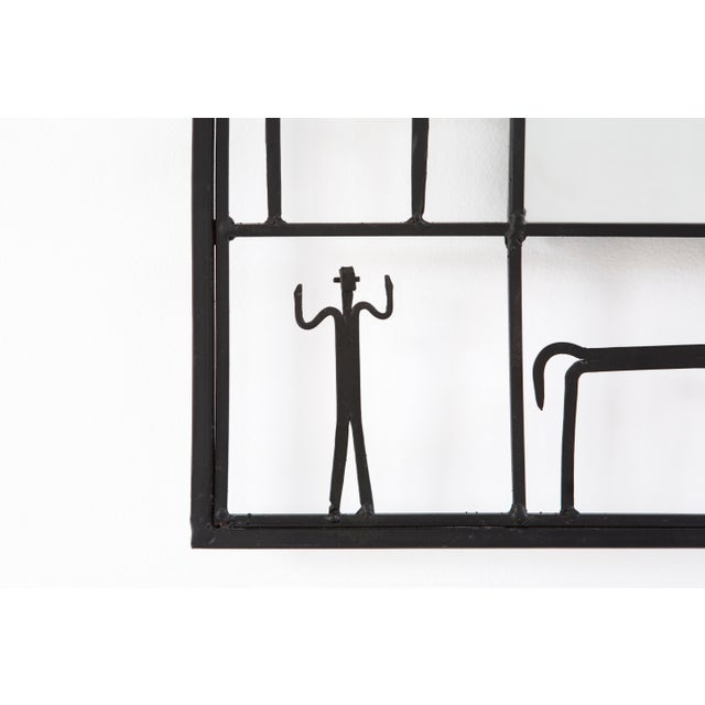 Mid-Century Modern Mid-Century Modern Mirror by Frederick Weinberg For Sale - Image 3 of 6
