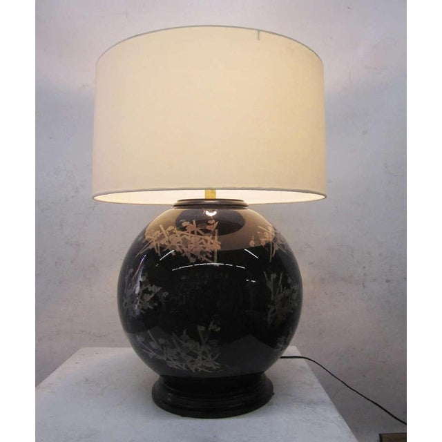 Mid Century Glass Japanese Style Table Lamps A Pair Chairish