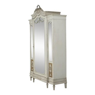 Antique French Original Painted Armoire, Circa 1900