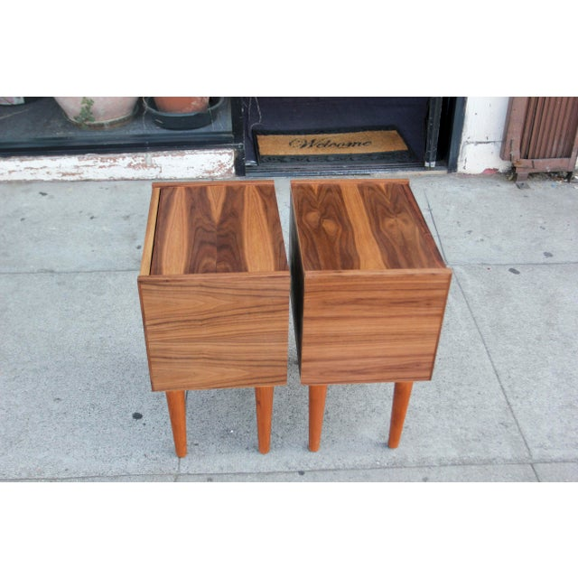 Mid-Century Modern Walnut Night Stands - a Pair For Sale - Image 9 of 12