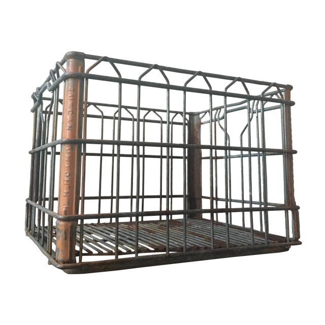 Tuscan Dairy Metal Milk Crate For Sale