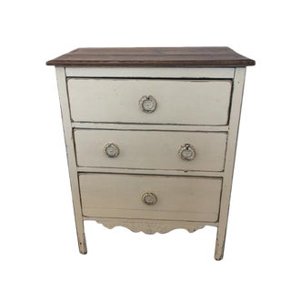 Antique French Petite Three Drawer Chest For Sale