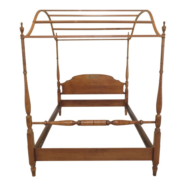 1980s Vintage Hitchcock Full or Double Size Poster Bed For Sale