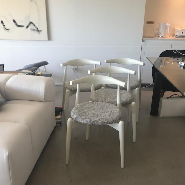 Textile Modern Hans Wegner for Carl Hansen and Sons Original Ch20 Elbow Chairs- Set of 4 For Sale - Image 7 of 13