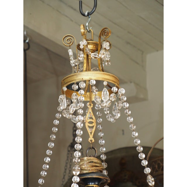Absolutely beautiful and elegant 18th century French chandelier. Made with Versaille rock crystals. Four lights with...