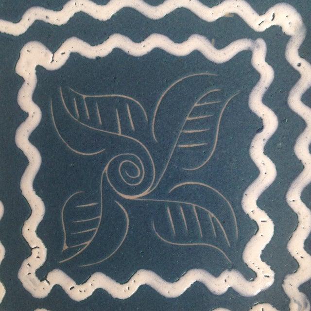 Blue & White Enameled Glidden Pottery Tray - Image 4 of 5