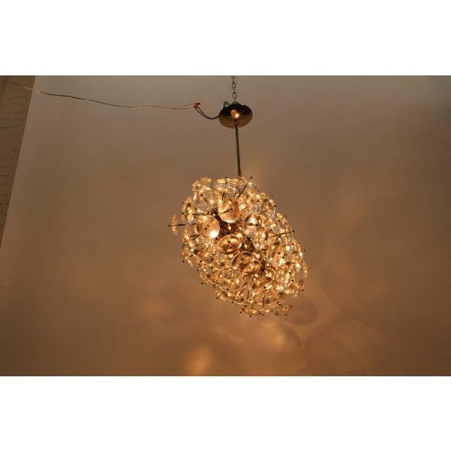 Gold Sputnik Chandelier, Zepelin For Sale - Image 8 of 11