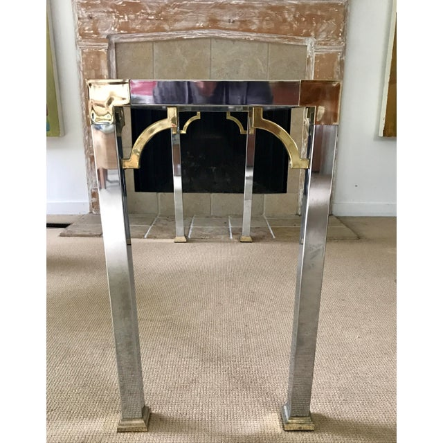 Mid Century Chrome and Glass Console / Sofa Table - Image 7 of 11