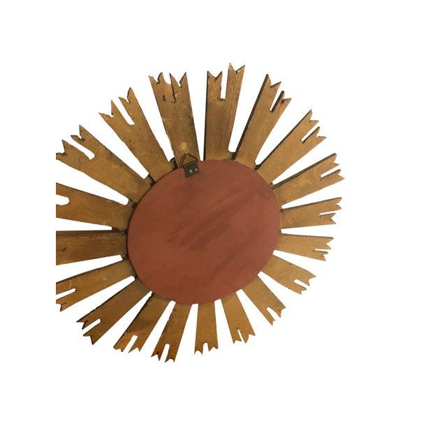 Vintage French Sunburst Mirror For Sale - Image 4 of 6