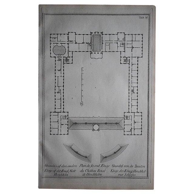 Antique Engraving Palace Floorplan Lg. Folio - Image 1 of 3