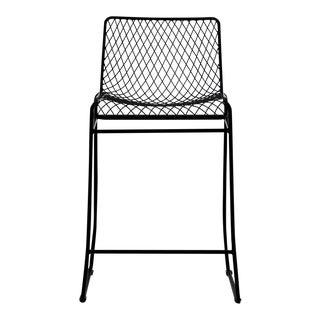 C'est Beau1872 Black Fishnet Counter Stool For Sale