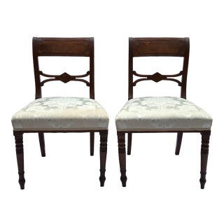 19th Century Mahogany Side Chairs- A Pair For Sale