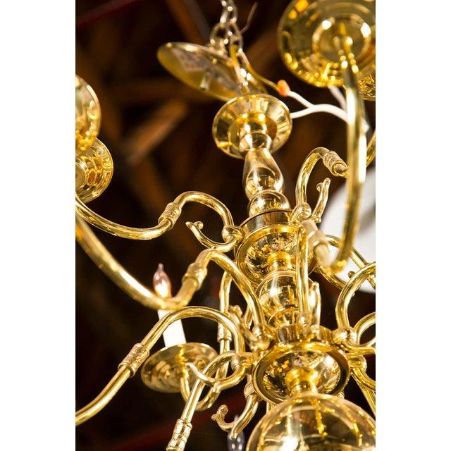 Twelve Light Brass Ball Form Chandelier - Image 7 of 8