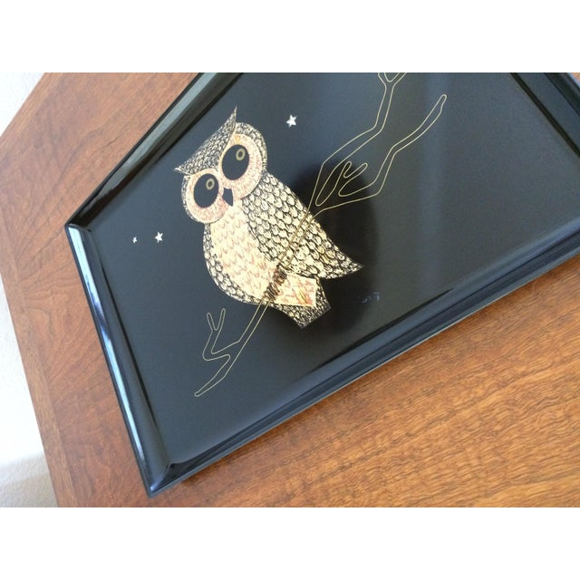 Mid-Century Owl Couroc Tray - Image 6 of 7