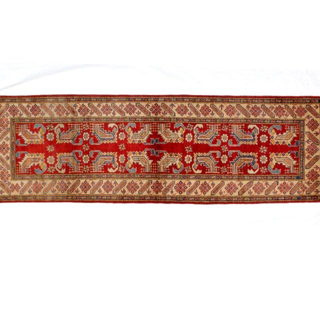 """Traditional Leon Banilivi Kazak Runner - 2'6"""" x 10'10"""" For Sale - Image 3 of 4"""