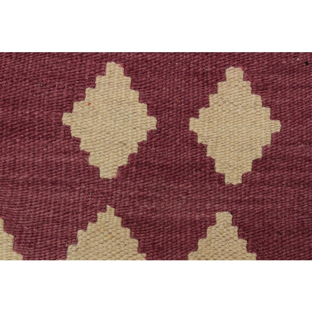 Modern Abstract Kilim Anjelica Hand-Woven Wool Rug -5′11″ × 8′4″ For Sale In New York - Image 6 of 8