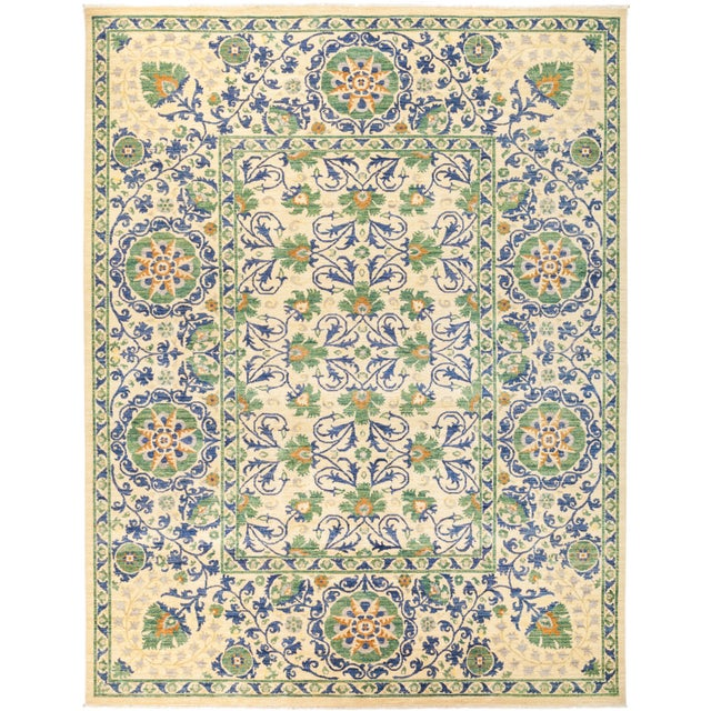 "Suzani Hand Knotted Area Rug - 10' 3"" X 12' 0"" - Image 4 of 4"