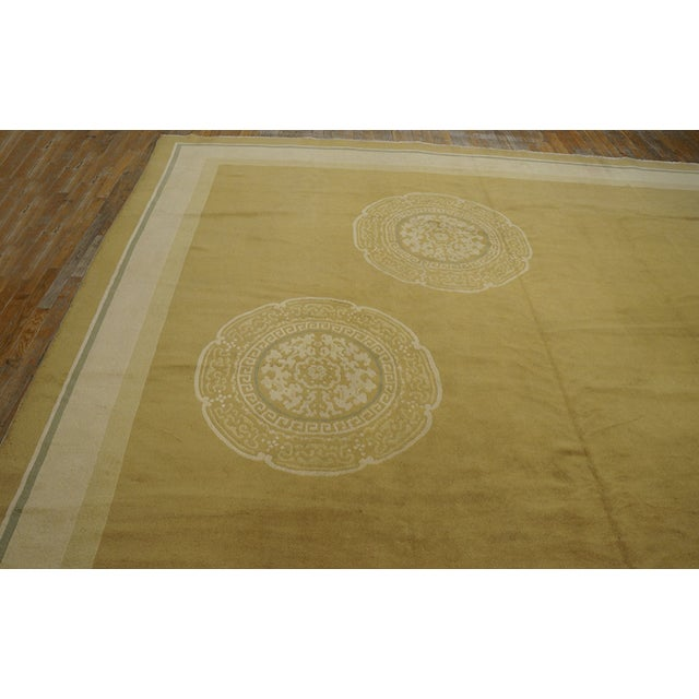 Yellow Antique Chinese Art Deco Rug For Sale - Image 8 of 12