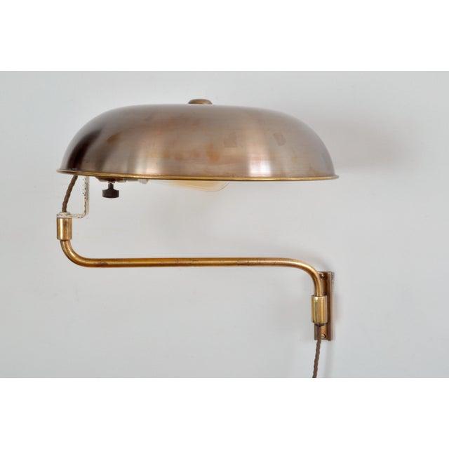 Amba Swing-Arm Wall Lamp, Switzerland, 1940s For Sale - Image 12 of 12